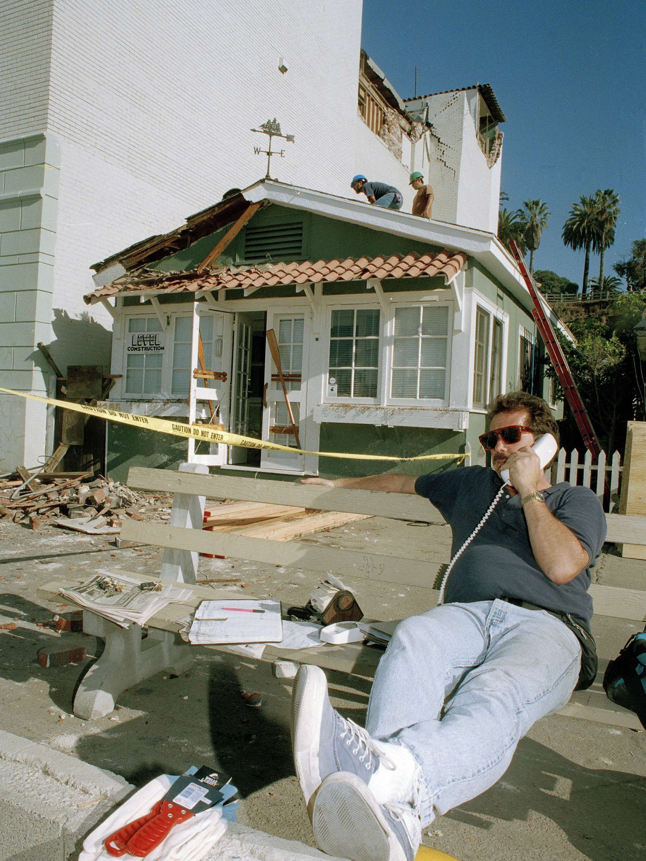 After the 1994 earthquake, Jim Barden of Santa Monica, Calif