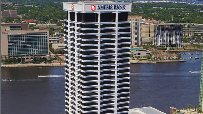 Ameris Bank Unveils New Logo Along With Plans For New Southbank Tower Signs