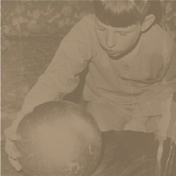 Wayne Betz, age 12, is pictured with the sphere his family found. Credit: Florida Times-Union archive.
