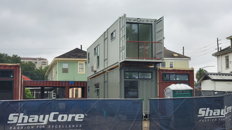 Shipping Container Apartment Units Begin Arriving In Cathedral District