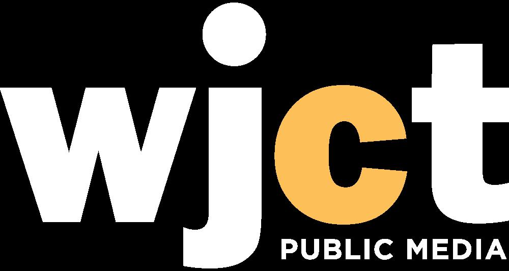 WJCT Public Media Logo White & Yellow