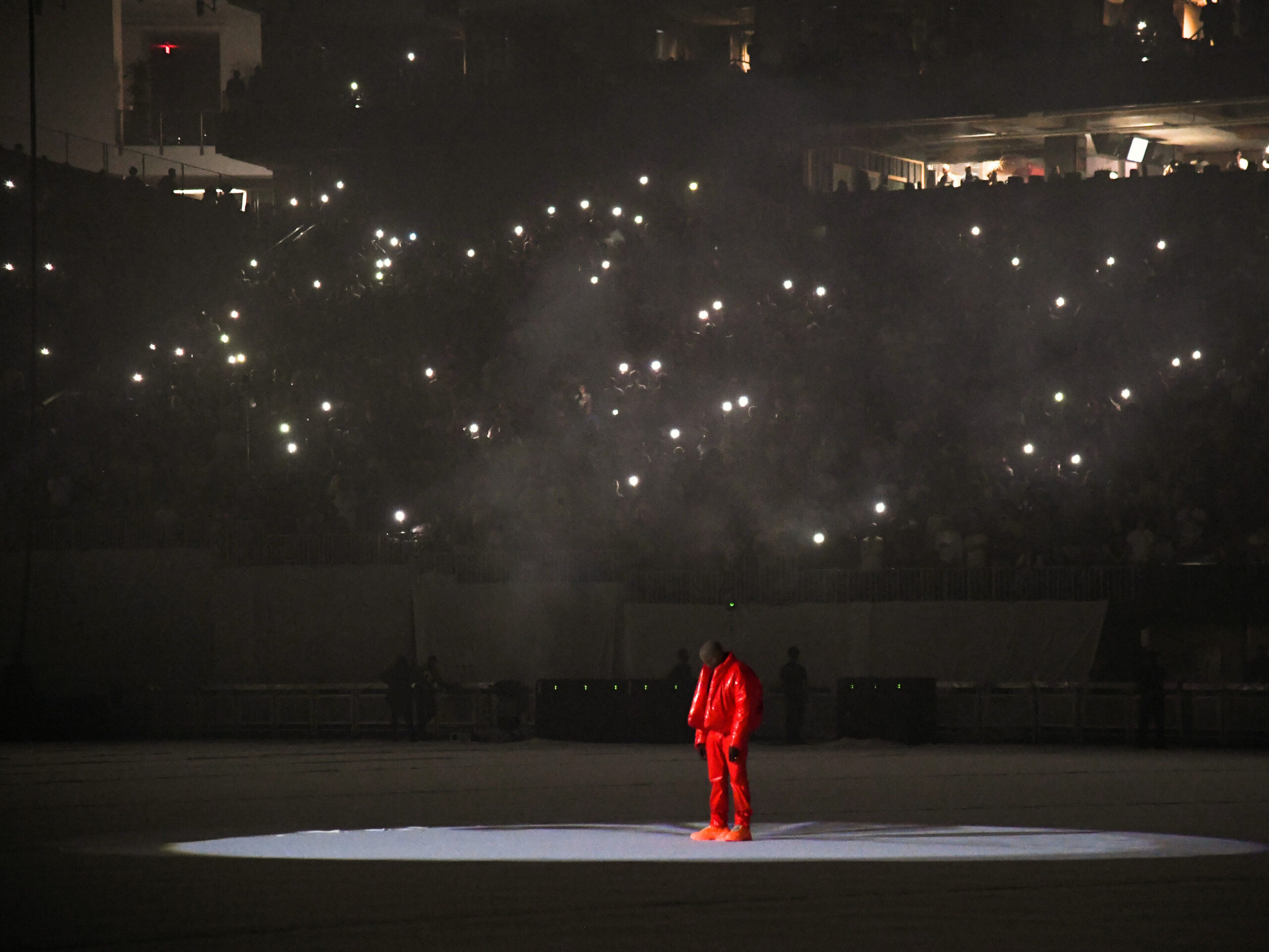 """Featured image for """"From A Small House In a Big Stadium, Kanye West Comes Up Empty-Handed on 'Donda'"""""""
